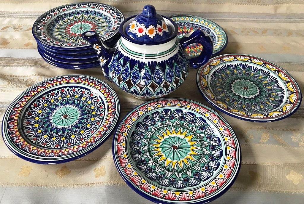 Узбекская посуда - ляганы пиалы