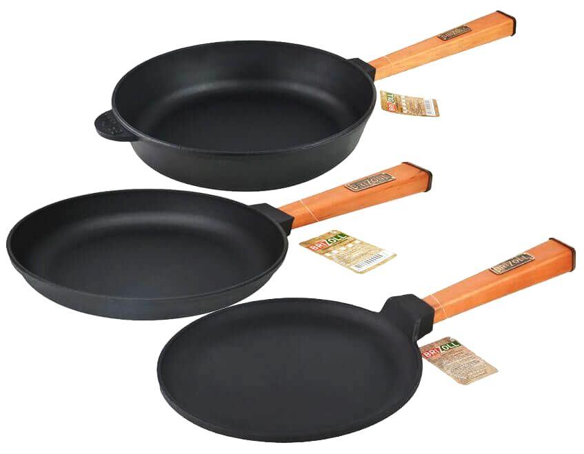 Чугунная сковорода бризолл