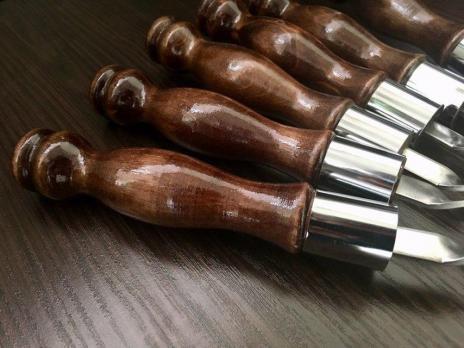 Шампур с деревянной ручкой и кольцом