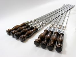 Шампур с деревянной ручкой и кольцом для люля
