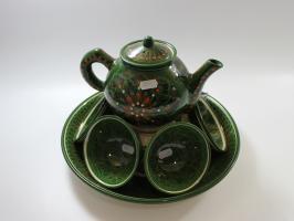 Чайный набор узбекской посуды ЗЕЛЕНЫЙ