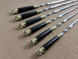 Шампура «Баран» с деревянной ручкой граб