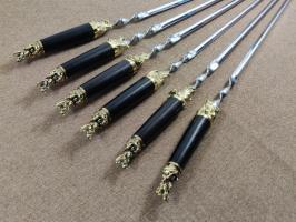 Шампура «Дикие звери» с деревянной ручкой Граб
