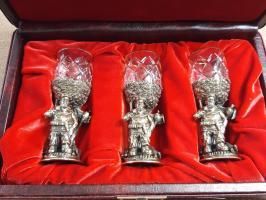 Стопки (перевертыши) подарочные «ЗВЕРИ» НА ТРОИХ», в футляре