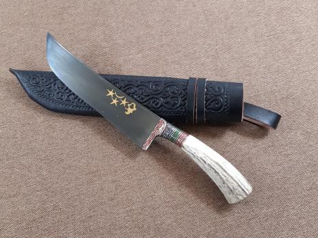Нож пчак ручка из рога (лезвие 15см)